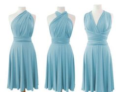 Pale blue  Infinity  Dress  Convertible Evening Bridesmaids Tailor Made Women Dresses by Innesaline on Etsy https://www.etsy.com/ca/listing/270123097/pale-blue-infinity-dress-convertible