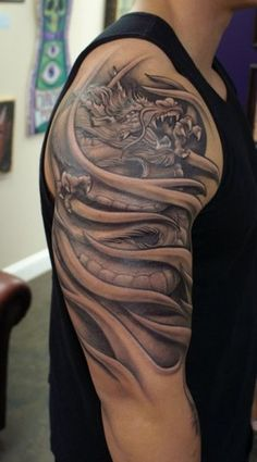 Japanese inspired dragon sleeve :