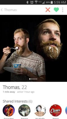 Thomas, and his incredibly appealing portrait.   22 Tinder Profiles That Might Make You Laugh Against All The Odds