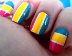 Colour blocking by fingerfood - Nail Art Gallery nailartgallery.nailsmag.com by Nails Magazine www.nailsmag.com #nailart