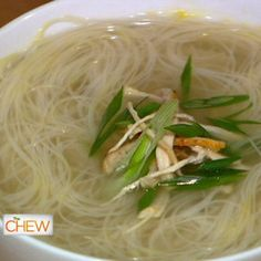 the chew | Recipe  | Adam Richman's Roasted Chicken Soup