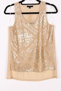 Damask Sequin Top