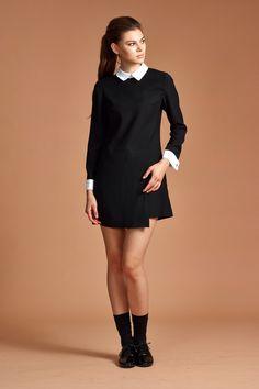 Black Dress - Black and White Dress - Suit Dress - Women Dress - Mini Dress - Free Shipping by garylindesign on Etsy https://www.etsy.com/listing/206359523/black-dress-black-and-white-dress-suit