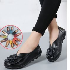 9727df15192 Large Size Flower Leather Lazy Flats is cheap and comfortable. There are  other cheap women flats and loafers online.