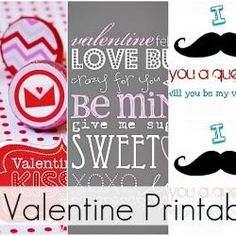 Great Ideas - - 21 Valentine's Day Printables!!