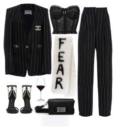 """""""Set #66 - Front Row"""" by planetpineapple ❤ liked on Polyvore featuring Maiyet, Dolce&Gabbana, Chanel, Yves Saint Laurent, Holmegaard, Dior and saintlaurent"""
