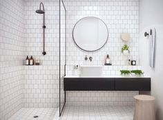 Great alternatives to subway tile in bathroom designs - click through for more inspiration