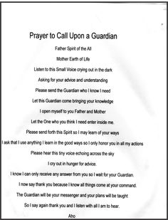 Guardian prayer