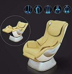 Home Cinema Leather Reclining Chair Full Body Massage Armchair Swing Relaxing Uk #PULeatherMassageChair