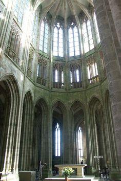 Grandes cabeceras Coro de la abadía Mont Saint Michel 1446             Gótico flamboyant