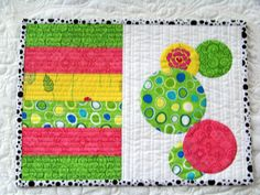 Attic Window Quilt Shop: MAKE COLORFUL PLACE MATS!  Darling