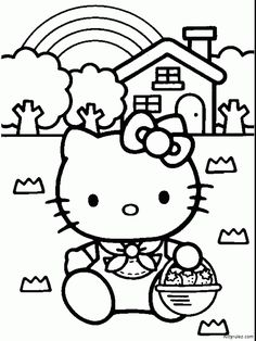 Thumbs Hello Kitty Coloring Draw 013 All Painters With Kitty Chan