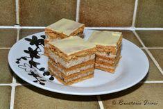 Bucataria Irinei...: Prajitura din foi umplute cu nuca si frisca Romanian Desserts, Romanian Food, Cheesecakes, Whipped Cream, Vanilla Cake, Waffles, Caramel, Food And Drink, Sweets
