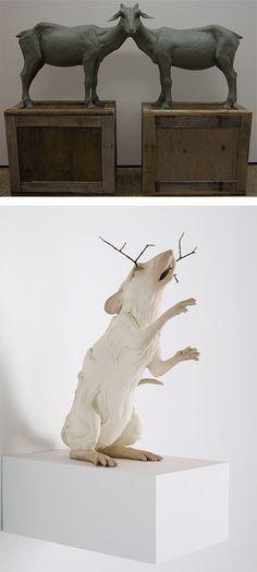 Animal Sculptures by Beth Cavener Stichter