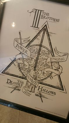 Harry Potter Tattoo idea  #HPtattoo #deathlyhallows #threebrothers
