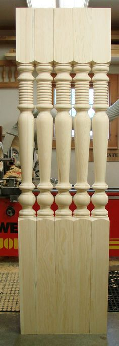 Our Old Market porch post pattern. Wood Turning Projects, Wood Projects, Woodworking Projects, Wood Spice Rack, Wooden Main Door Design, Wood Furniture Legs, Showroom Interior Design, Wood Staircase, Wood Carving Designs