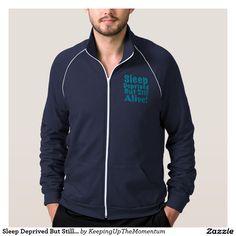 Sleep Deprived But Still Alive in Blue Track Jacket