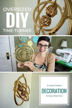 DIY Giant Hanging Time-Turner Decoration for Harry Potter fans | Easy craft project idea