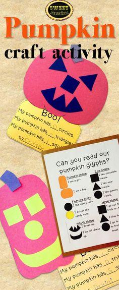 Love this for Fall and Halloween, will make a great bulletin board on pumpkin… Halloween Math, Halloween Activities, Autumn Activities, Craft Activities, Halloween Themes, Halloween Crafts, Pumpkin Crafts, Fall Crafts, Fall Preschool