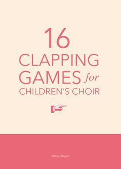 Hands: 16 Clapping Games for Children's Choir 16 fun hand-clapping games for children's choir - great for a gathering activity or quick change-of-pace in the middle of rehearsal! Movement Activities, Music Activities, Music Games For Kids, Game For Children, Hand Games For Kids, Physical Activities, Elementary Choir, Elementary Music Lessons, Middle School Choir