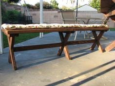 X Bench for X Picnic Table