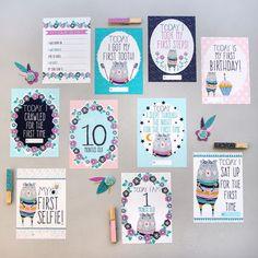 Flora Bear Baby Milestone Cards Pack