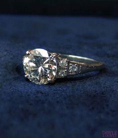 Glamorous vintage diamond engagement ring, circa 1950 from Doyle & Doyle.