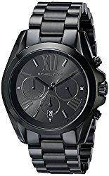 Michael Kors Men's Bradshaw Black Tone Chronograph Watch
