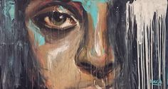 """Emiliana"" Expressionism painting by @Angela Correa  Acrilic on canvas  #Art #paint #Expressionism #protrait"