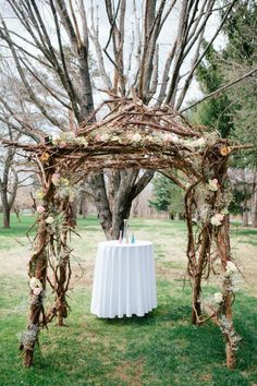 Chuck built this arbor for his and Iris's wedding in the Orchard at Perona Farms!  Their photos were featured in Rustic Wedding Chic.  http://rusticweddingchic.com/new-jersey-rustic-wedding