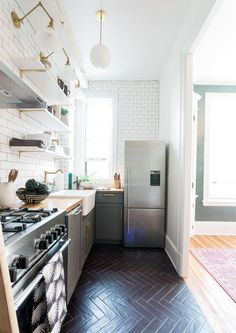Open Kitchen - A Prewar Home Packed With History And High-Style - Photos
