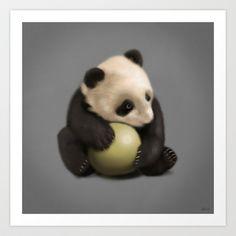 Baby Panda Art Print by Federico Detor Simoni - $18.00