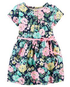 Kid Girl Floral Jersey Dress | Carters.com