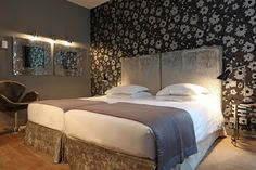 New Hotel Roblin - Style Parisienne, Best Boutique Hotels, Paris Hotels, Bed, Furniture, Home Decor, Collection, Luxury Hotel Rooms, Homemade Home Decor
