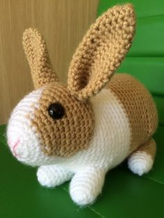 Toffee the Rabbit crochet project by Penny | LoveKnitting