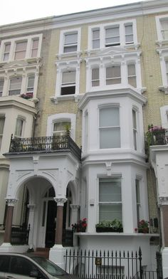 """The site where the main character of """"An American Werewolf in London"""" changes into a werewolf for the first time London Townhouse, London House, Earls Court London, American Werewolf In London, England, Main Character, Famous People, Maine, Houses"""