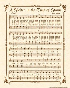 A Shelter In The Time Of Storm a. O Jesus Is A Rock In A Weary Land was written by Vernon J. Charlesworth author and hymn writer. The tune was composed by Ira David Sankey a well known singer of sacred songs, well known for his publication of Sankeys Hymns Of Praise, Praise Songs, Worship Songs, Gospel Song Lyrics, Gospel Music, Music Lyrics, Music Music, Piano Music, Music Stuff