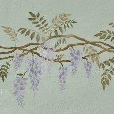 Wisteria-stencil-floral-border-vine-stencil