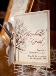wedding program book