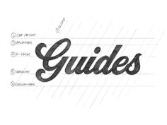 Lettering- Giuided Lines: the six main guides I use for hand lettering Lettering Guide, Hand Lettering Fonts, Creative Lettering, Cool Lettering, Types Of Lettering, Typography Letters, Brush Lettering, Lettering Design, Chalk Typography