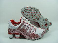Womens Nike Shox NZ Cracks White Red Silver I want these!