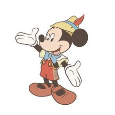 Mickey Mouse as Pinocchio, via Flickr.