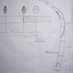 Sketch of the bow's ears, of a northern style Chinese composite bow from the mid 19th Century, by Stefan Demeter.