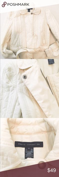 Great cream jacket French Connection Nice for fall or sunny winter French Connection Jackets & Coats Blazers