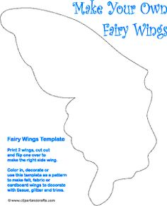 Fairy Wings paper toy craft pattern