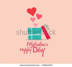 Valentine's Day poster.Typography and gift
