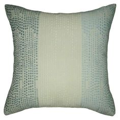 Vertical Dots Square Pillow - Blue - Threshold™