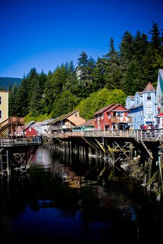 Ketchikan, Creek Street.  This was a cute little town.  Love the way they painted their store fronts.