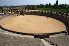The reconstructed amphitheater in the archaeological park in Xanten (Germany, NRW)