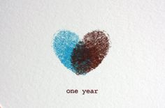 This would be cool do to every year on your anniversary in different colors and make a book or wall art out of it. or even if you did it on fabric you could make it into a quilt after so many years!
